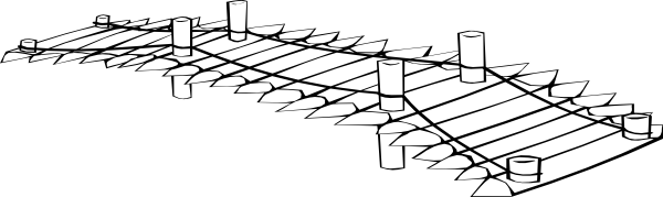 Bridge clipart black and white This Art at White Download