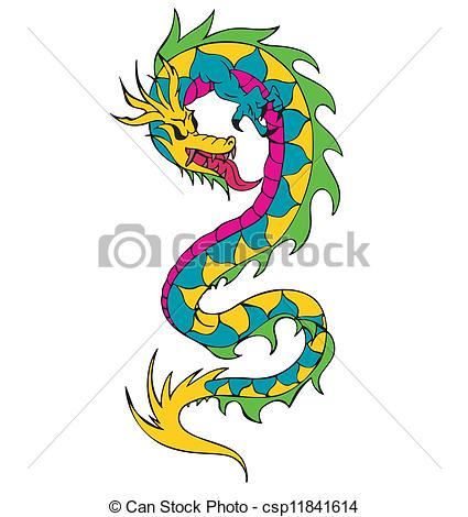 Chinese Dragon clipart long Vector chinese csp11841614 dragon worm
