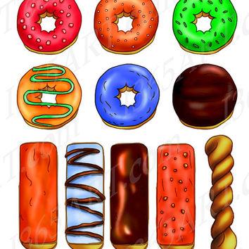 Long clipart donut #10