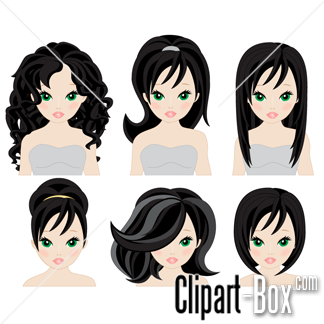 Long clipart hairstyle #12
