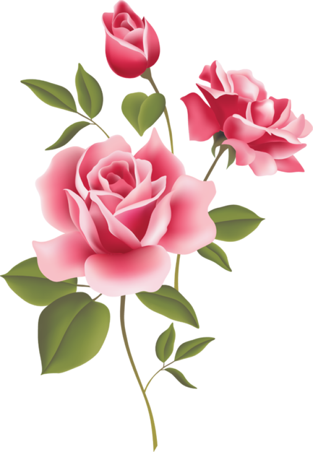 Rose clipart decal #2