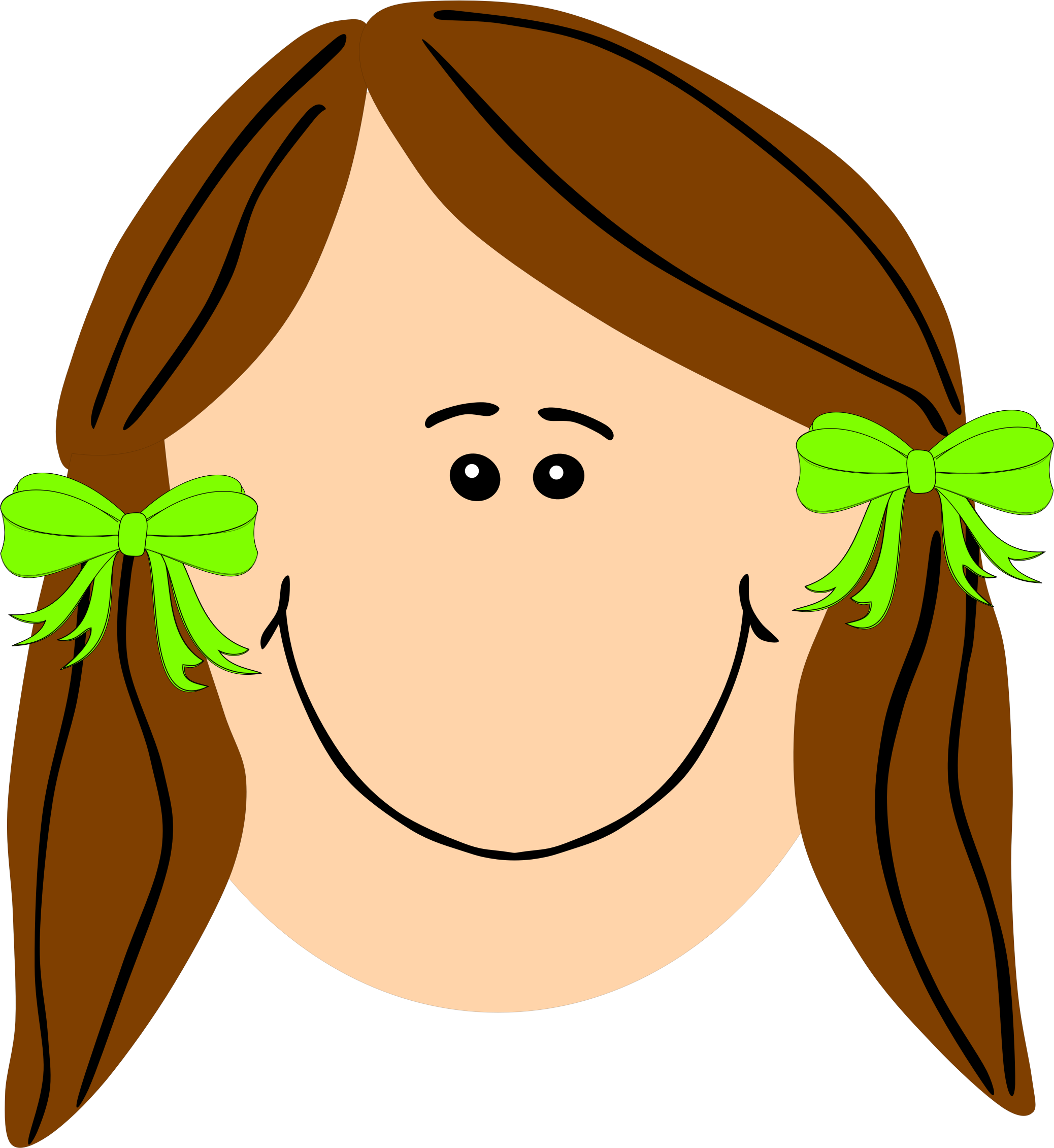 Long Hair clipart Brown brown with with girl