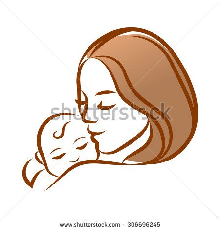 Brown Hair clipart mom face Her Pinterest baby Clip 77