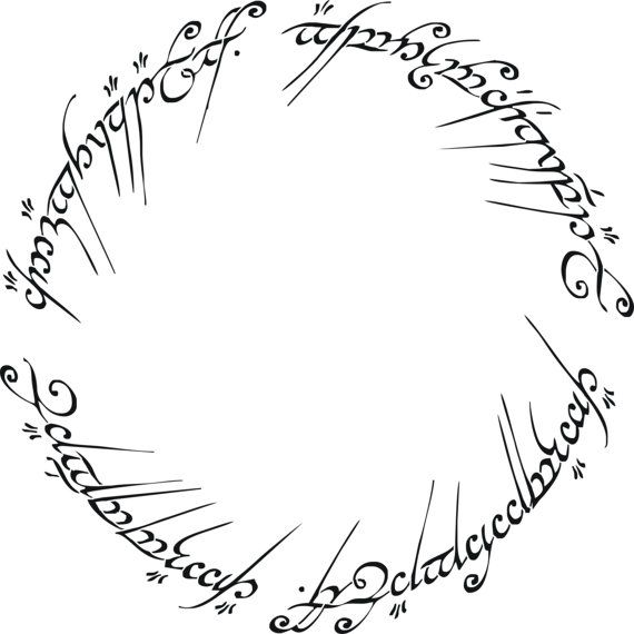Lord Of The Rings clipart MULTIPLE Lord Rings Stencil 102040