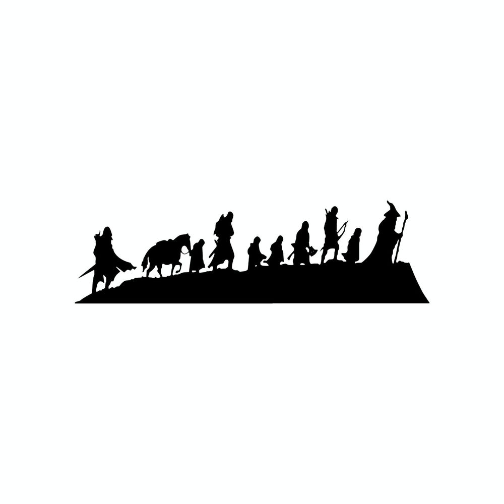 Lord Of The Rings clipart Colors of Multiple Decal of