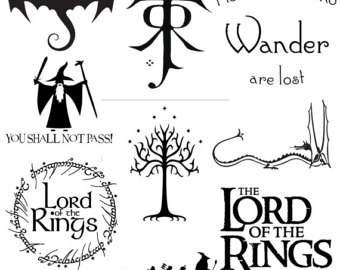 Lord Of The Rings clipart black and white #7