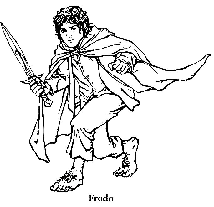 Lord Of The Rings clipart black and white #5