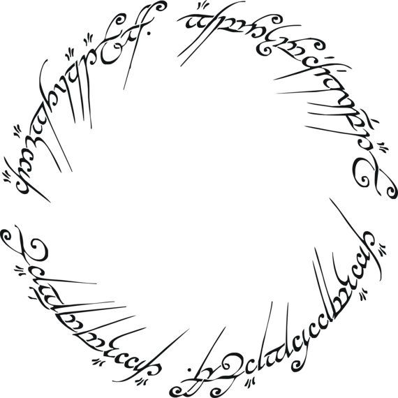 Lord Of The Rings clipart black and white #9