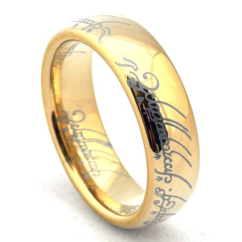 Lord Of The Rings clipart gold ring Tungsten Lotr tungsten of rings