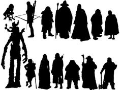 Lord Of The Rings clipart silhouette #12