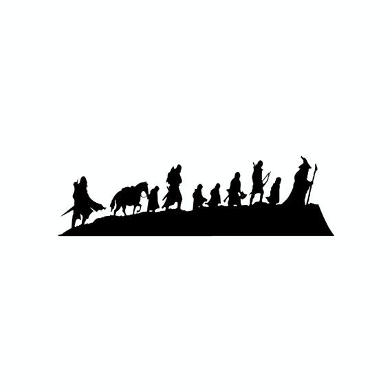 Lord Of The Rings clipart silhouette #4