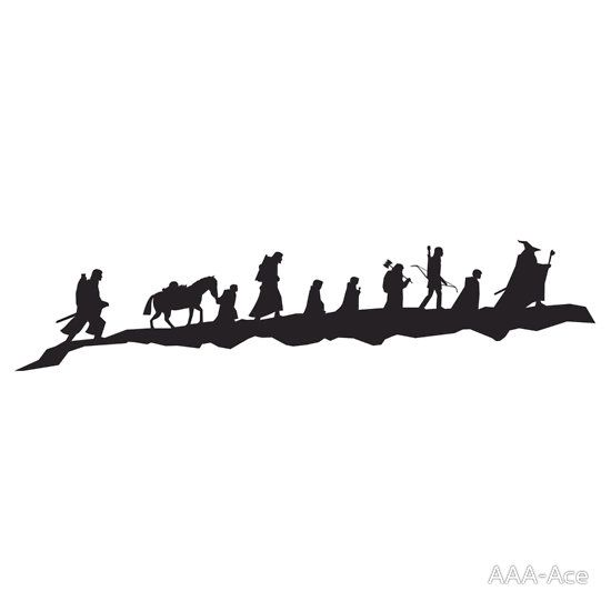 Lord Of The Rings clipart silhouette #13