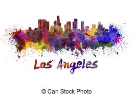 Los Angeles clipart  Stock royalty  skyline