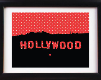 Los Angeles clipart Hollywood Sign Clipart 5X7 Silhouette: Los weed Nursery