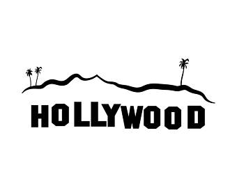 Los Angeles clipart Hollywood Sign Clipart SVG Graphics Los clipart Pdf