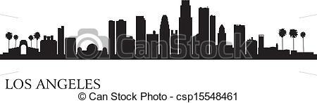 Cityscape clipart los angeles  8 123  skyline