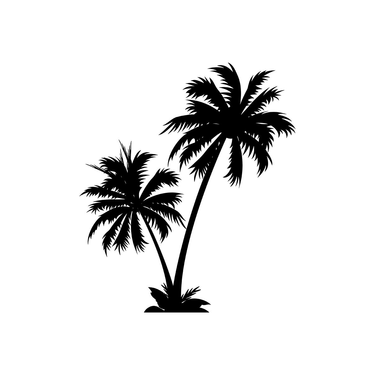Los Angeles clipart Los Angeles Skyline Silhouette Palm Trees #7