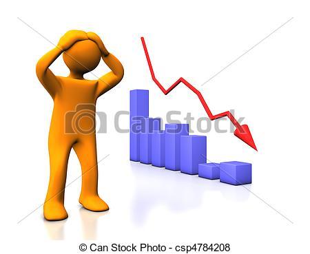 Loss clipart Cartoon white diagram  Stock