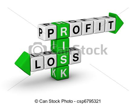 Loss clipart Stock loss and Profit clipart