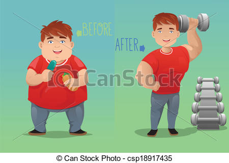 Loss clipart before And A of vector and