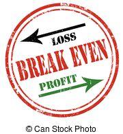 Loss clipart break even point Illustrations Break Stock  even