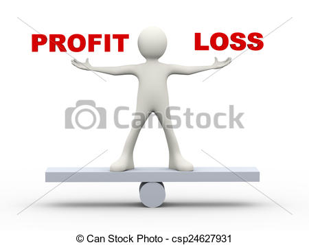Loss clipart net income 3d and Drawings loss profit