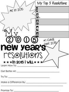 Loss clipart slim boy New Foldable A+little+early!+ Resolutions 2015+New+Years+Resolution+Sheet