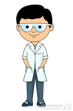 Coat clipart lab apron And science science goggles boy