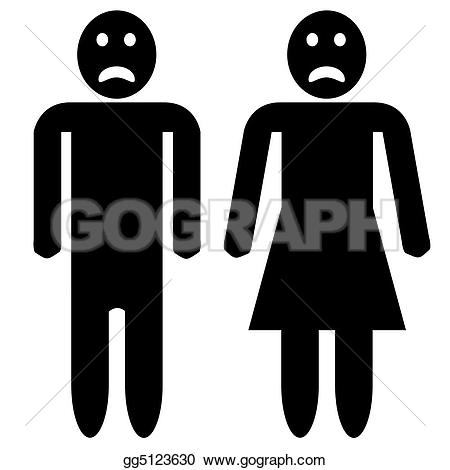 Loss clipart unhappy person And faces Stock Sad silhouette