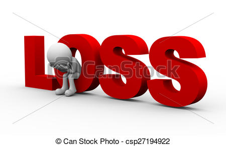 Loss clipart unhappy person Word 3d man 3d Clipart