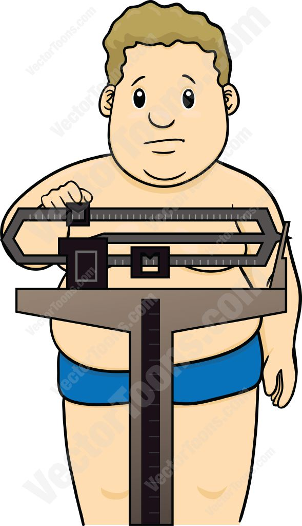 Loss clipart unhappy person Weighing scale unhappy Man on