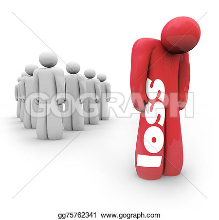 Loss clipart unhappy person Alone Stock Loss Loss Mourning