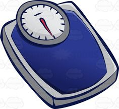 Loss clipart weighing scale An Looking  On Blue