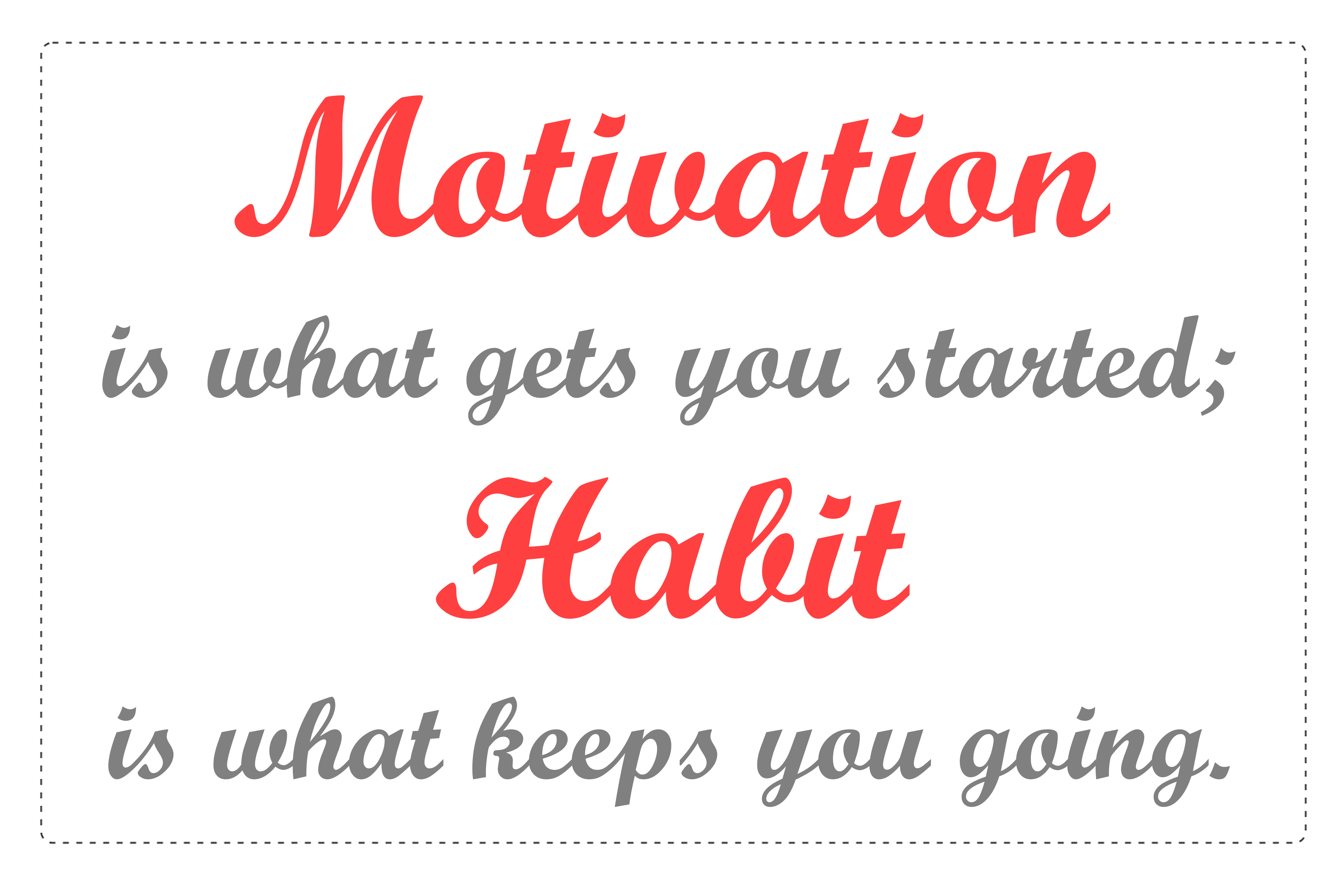 Saying clipart self motivation #6