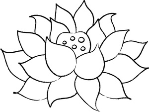 Black & White clipart lotus flower 3801_SMU coloring_page_of_a_lotus_flower_0515 Lotus flower