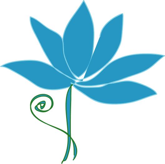 Simple clipart blue flower #3