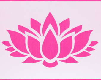 Lotus clipart stencil FREE Etsy Flower Various flower