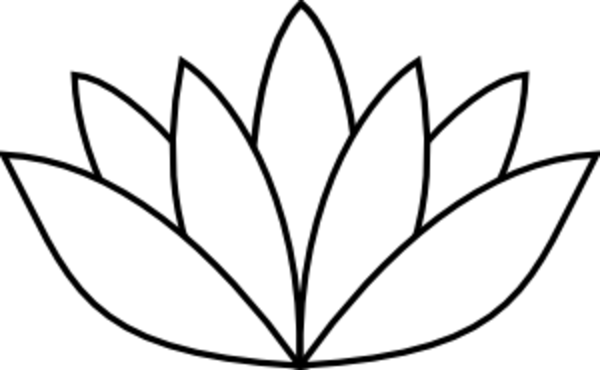 Lotus clipart stencil  this clip White Clker