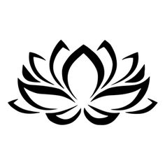 Black & White clipart lotus flower Yoga Top clipart simple meanings