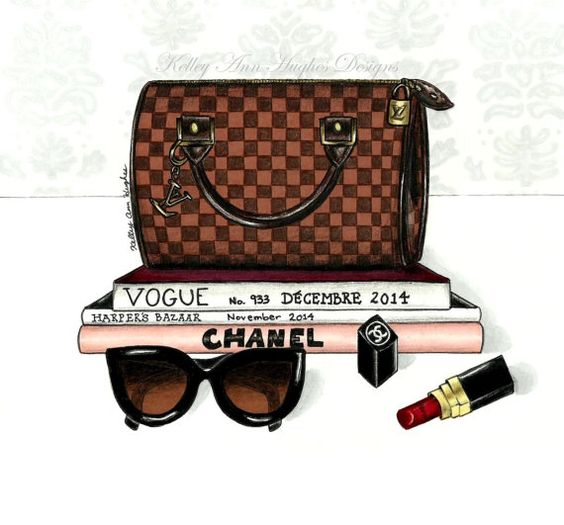 Louis Vuitton clipart Illustration Chanel Louis Damier Illustration