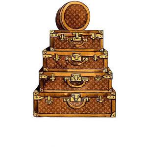Louis Vuitton clipart Watercolor Illustration Louis Vuitton Vuitton