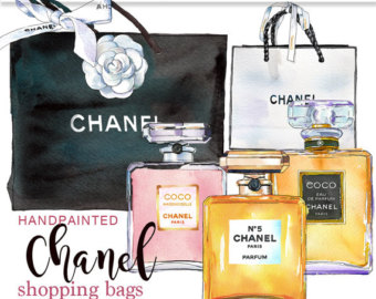 Chanel clipart Clip watercolor use perfume Vuitton