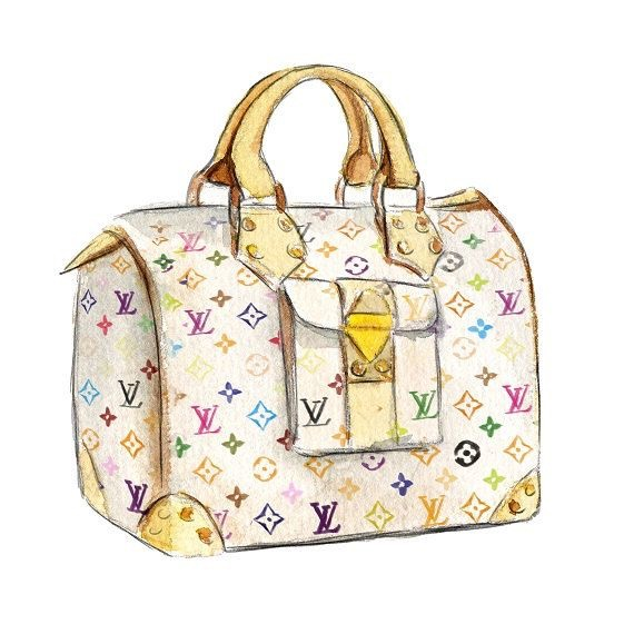 Louis Vuitton clipart designer handbag Palace / of Illustrations glamajesty