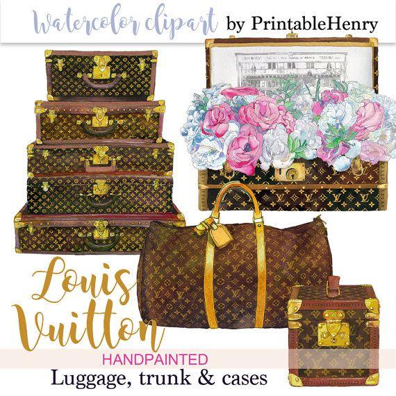 Louis Vuitton clipart famous fashion Etsy Instant images Vuitton best