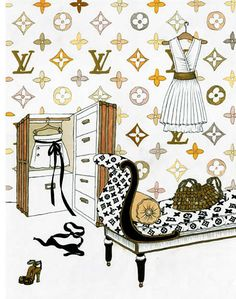 Louis Vuitton clipart famous fashion Illustration Watercolor Vuitton  Google
