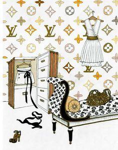 Louis Vuitton clipart famous fashion Watercolor louis  Google Fashion