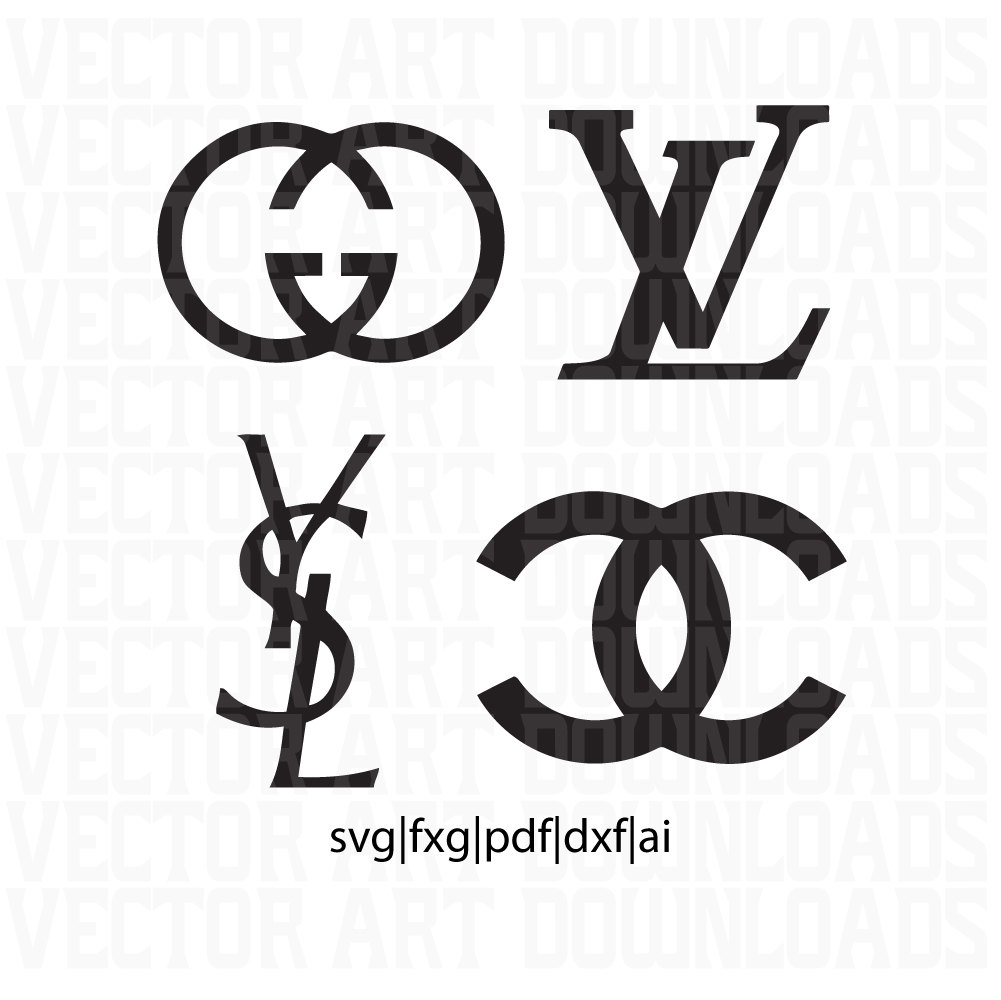 Gucci clipart Chanel png digital Logo Louis