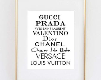 Louis Vuitton clipart guggi Motivational Fashion Etsy Chanel art