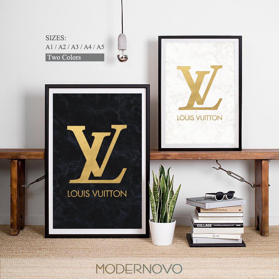 Louis Vuitton clipart guggi Louis Etsy Print • Poster