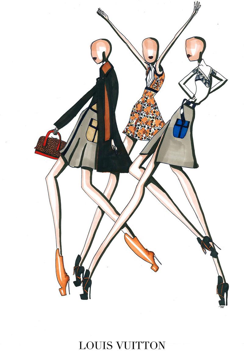 Louis Vuitton clipart top fashion Paris NOWFASHION Looks Top of